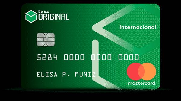 Cartão do banco original Mastercard internacional
